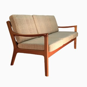 Scandinavian Modern Danish Teak and Wool Sofa by Ole Wanscher for Poul Jeppesens Møbelfabrik, 1960s