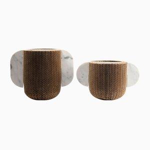 Vases Confinanti par Gumdesign pour La Casa di Pietra, Set de 2