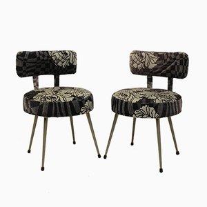 Französische Esszimmerstühle aus Metall von Pelfran, 1960er, 2er Set