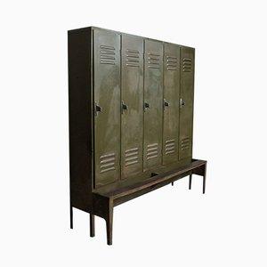 Mid-Century Industrial Italian Iron Cabinet, 1960s