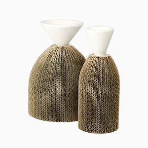 Avvolti Vasen von Gumdesign für La Casa di Pietra, 2er Set