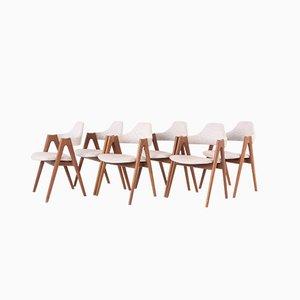 Moderne skandinavische Esszimmerstühle aus Teak von Dyrlund, 1970er, 6er Set