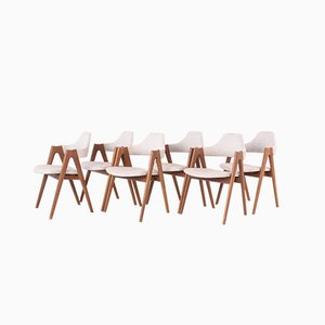 Scandinavian Modern Teak Dining Chairs from Dyrlund, 1970s, Set of 6