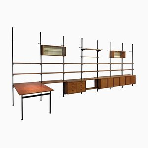 Large Mid-Century Swedish Modular Pira Wall Unit by Olof Pira for String, 1960s