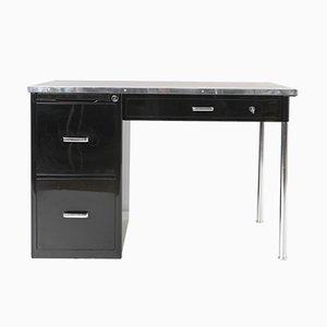 Moderner Schreibtisch aus Stahl & Linoleum von Bigla, 1930er
