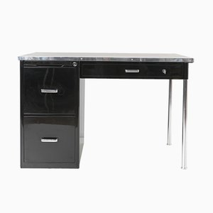 Modernist Steel and Linoleum Desk from Bigla, 1930s