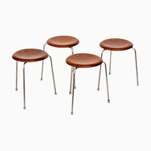 Teak Stools by Arne Jacobsen, 1950s, Set of 4