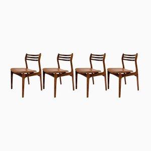 Dänische Esszimmerstühle aus Palisander & Leder, 1960er, 4er Set