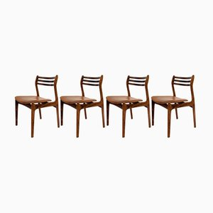 Danish Rosewood and Leather Dining Chairs, 1960s, Set of 4