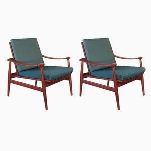 Modell FD 133 Sessel aus Teak von Finn Juhl für France & Søn, 1950er, 2er Set