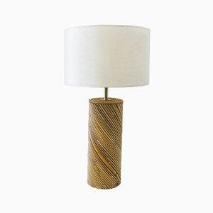 Vintage Tischlampe aus Bambus, 1980er