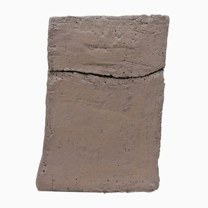 Grauer Behälter aus Steingut von Christine Roland, 2019