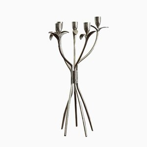 Italian Modern Brass and Nickel Candleholder by Borek Sipek for Driade, 1980s