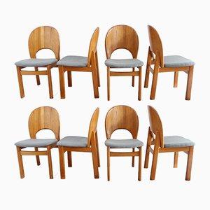 Chaises de Salle à Manger en Teck de Glostrup, Danemark, 1970s, Set de 8