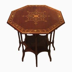Table d'Appoint Octogonale Antique en Acajou par Edwards & Roberts de London