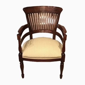Antiker Armlehnstuhl aus Mahagoni von James Peddle