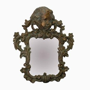 19th-Century Wood and Papier Maché Mirrors, Set of 2