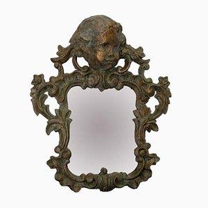 Espejos de madera y papel Maché, siglo XIX. Juego de 2