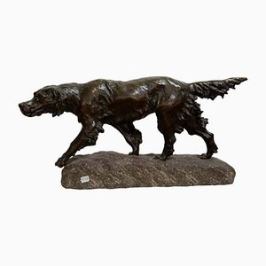 Bronze Hunting Dog Statue from Thomas François Cartier, 1920s