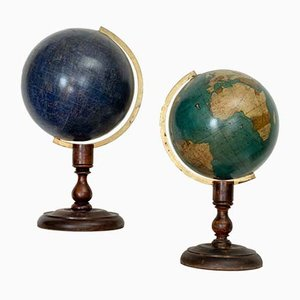 19th-Century Globes, Set of 2