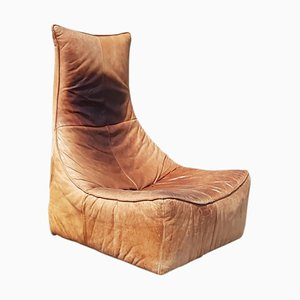 Vintage Model Rock Leather Lounge Chair by Gerard van den Berg for Montis, 1970s