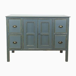 Mid-Century Industrial French Paint and Wood Dresser, 1940s