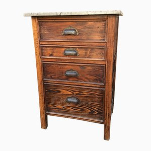 Vintage Industrial Fir Commode, 1930s