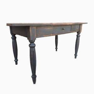 Rustic French Oak and Fir Table, 1930s
