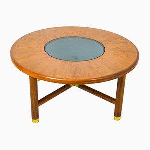 Tavolino da caffè in ottone e vetro fumé di Ib Kofod Larsen per G Plan, anni '60