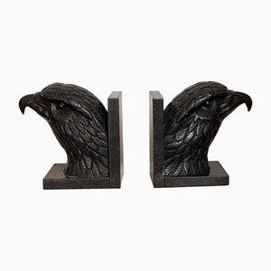 Antike amerikanische Buchstützen aus Marmor, 2er Set