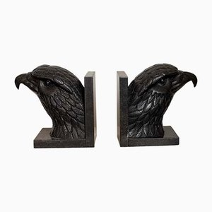 Antique American Marble Bookends, Set of 2