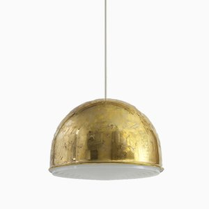 T-075 Brass and ABS Ceiling Lamp by Eje Ahlgren for Bergboms, 1960s