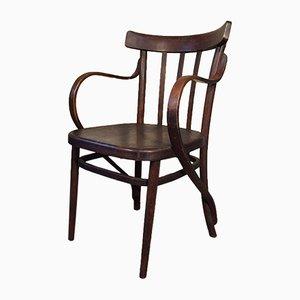 Chaise de Bureau Antique en Hêtre, Italie