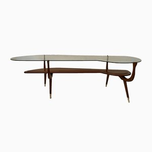 Mid-Century Italian Brass and Glass Coffee Table, 1950s