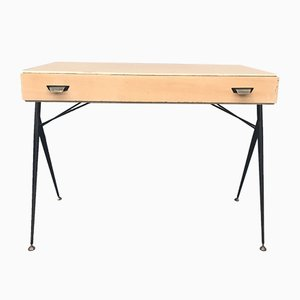 Mid-Century Italian Brass and Iron Desk, 1950s