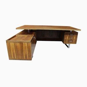 Schreibtisch aus Metall und Palisander von Jorgen Pedersen für Pedersen & Hansen, 1970er