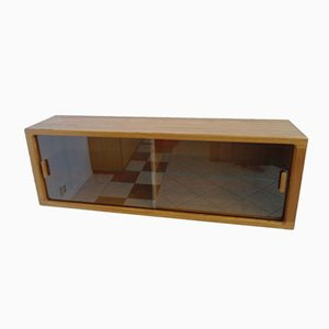 Danish Glass and Teak Display Cabinet by Johannes Andersen for CFC Silkeborg, 1960s