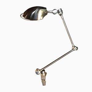 Industrielle deutsche Bauhaus Tischlampe aus Aluminium & Eisen, 1940er