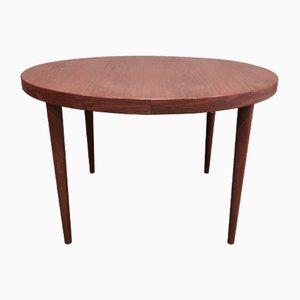 Round Scandinavian Modern Teak Dining Table, 1950s