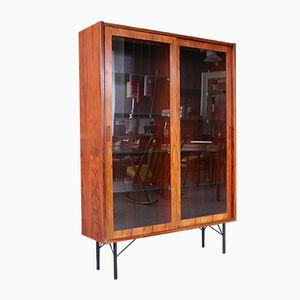Mobiletto in palissandro e vetro di Poul Hundevad per Hundevad & Co., Danimarca, anni '60