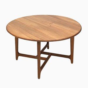 Tavolino da caffè Mid-Century in quercia e teak, Danimarca, anni '60