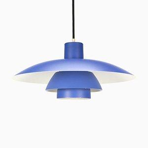 Blaue Vintage PH 4/3 Lampe von Louis Poulsen für Paul Henningsen