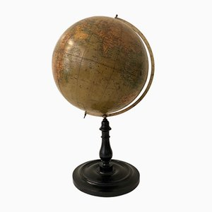 Art Deco Spanish World Globe from George Philip & Son, 1930s
