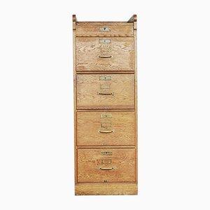 Industrial Oak Filing Cabinet, 1920s