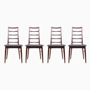 Danish Model Lily Side Chairs by Niels Koefoed for Koefoeds Møbelfabrik, 1960s, Set of 4