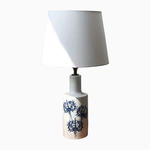Lámpara de mesa danesa de porcelana de Kaj Lange para Fog & Mørup, años 60