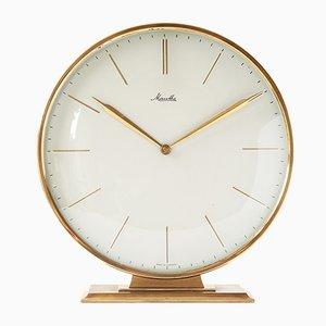 Reloj alemán industrial de latón de Mauthe, años 50