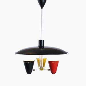 Lámpara de techo coloreada de H. Th. JA Busquet para Hala, años 50