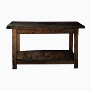 Industrial French Wooden Table, 1930s