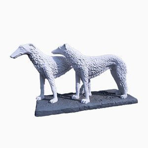 Vintage Russian Borzoi Garden Sculpture by Domien Ingels, 1938